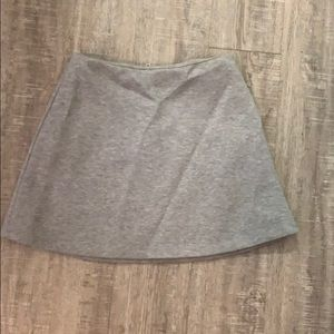 Grey sweater skirt